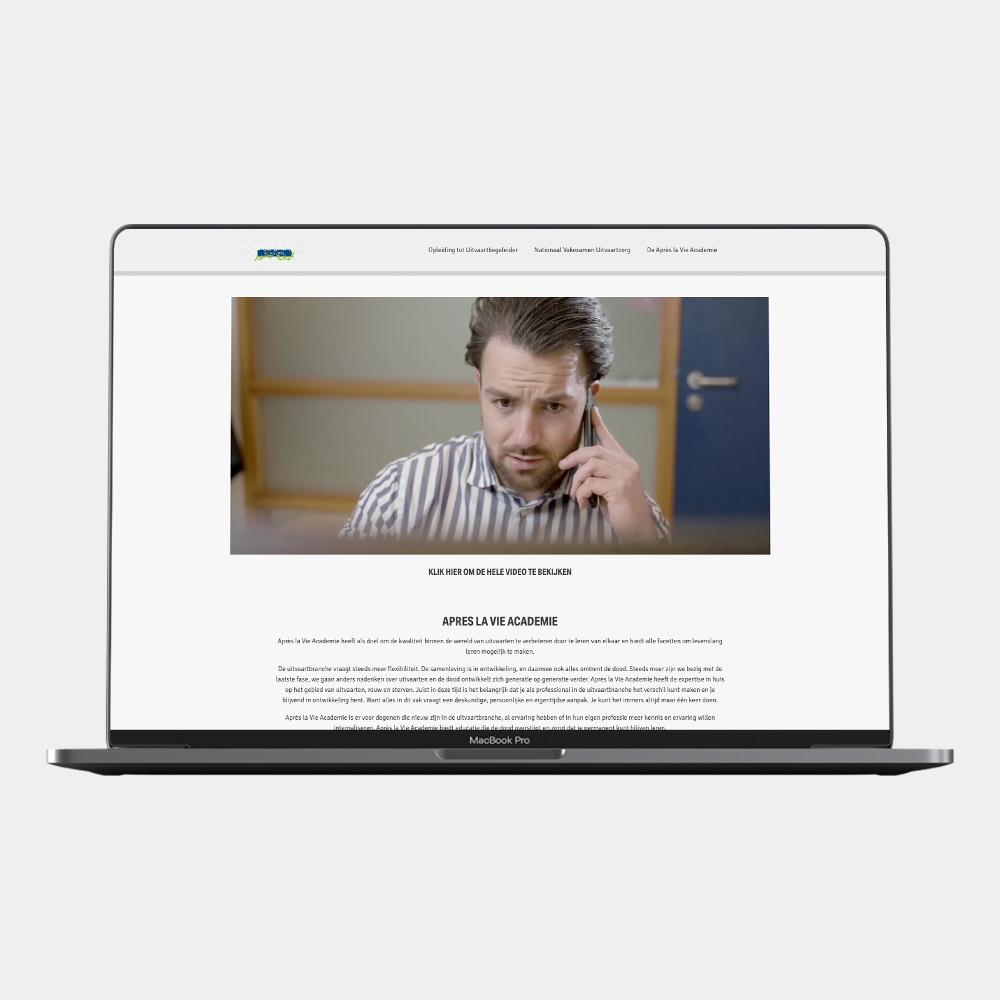 Website Aprés la vie Academie
